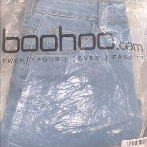 👖✨ Boohoo Light Blue High Waist Skinny Jeans
